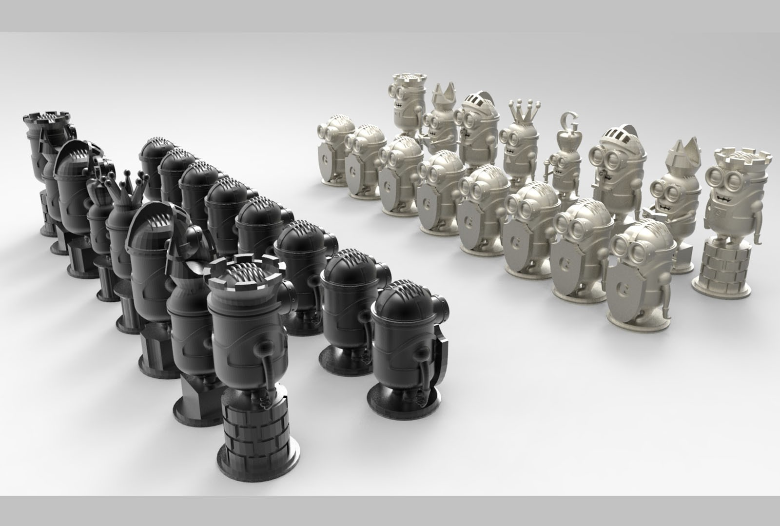 CNC N009 (Minion Chess) 3D STL Model