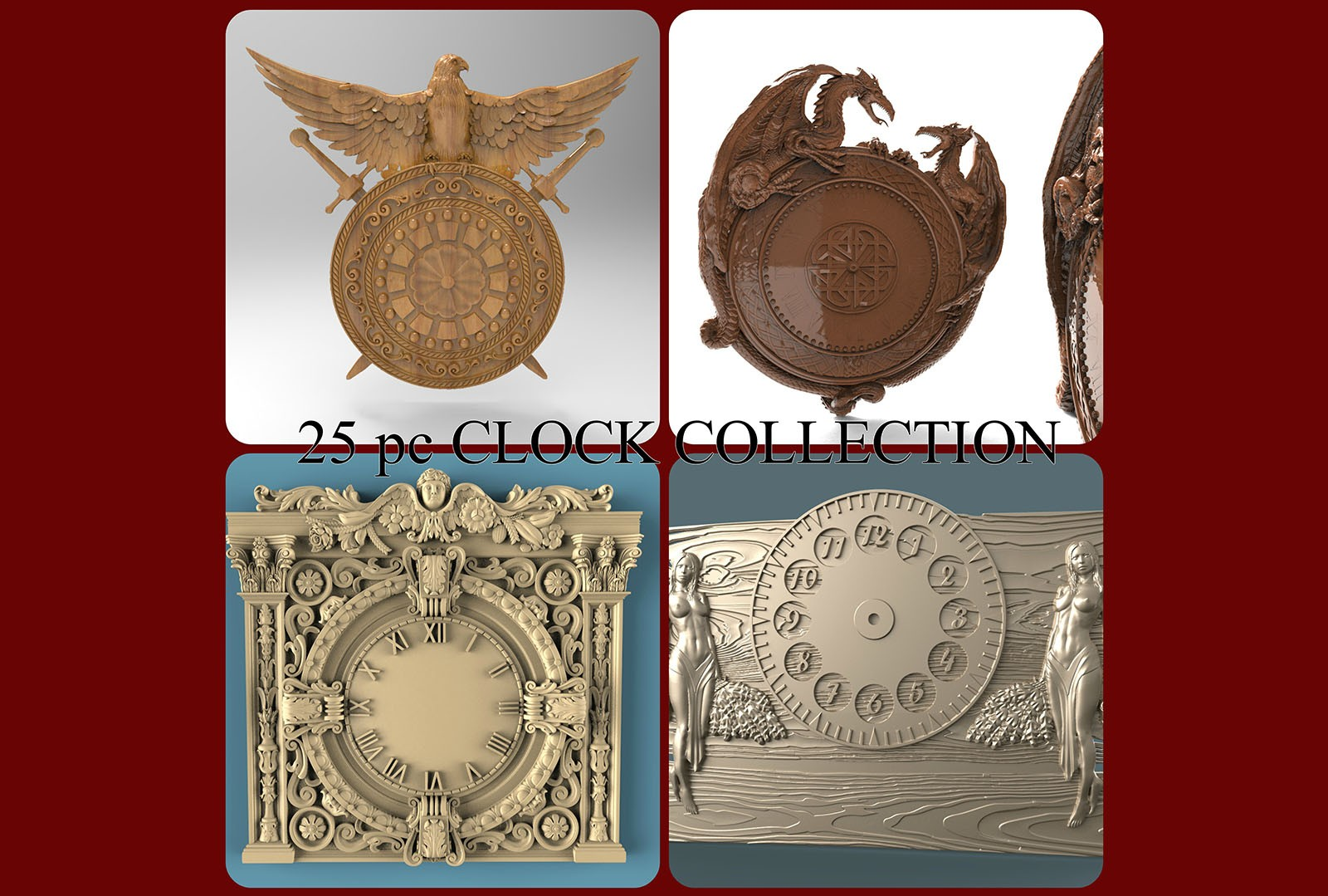 CNC G003 (Clock Collection) 3D STL Model