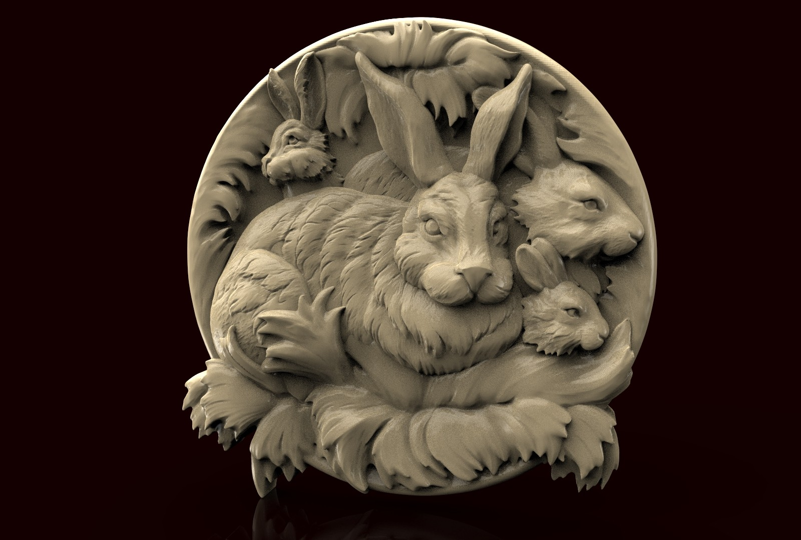 CNC AP004 (Plate Rabbits) 3D STL Model